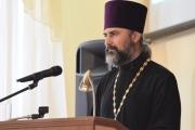 Выступление протоиерея Виктора Савенко руководителя ОРОиК Ейской епархии на педфоруме в г.Краснодаре
