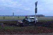 Мерседес врезался  в Поклонный Крест, пассажир погиб